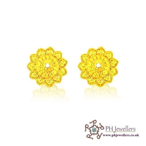 22CT 916 Hallmark Yellow Gold Tops Earring TE19
