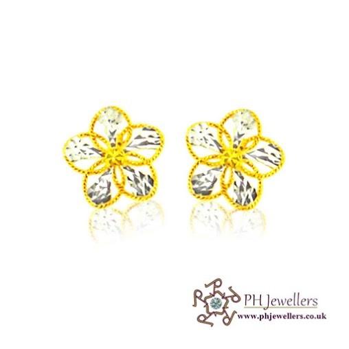 22CT 916 Hallmark Yellow Gold Tops Earring TE23