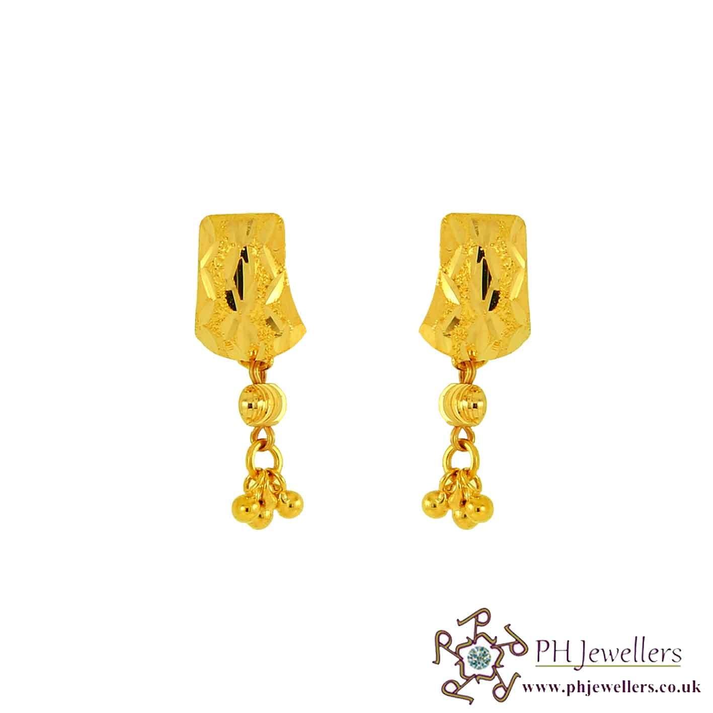 22ct 916 Yellow Gold Dangling Earring TE5