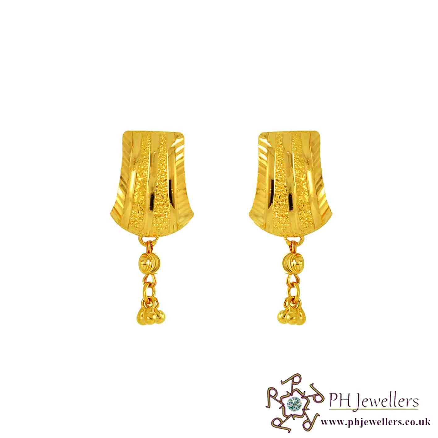 22ct 916 Yellow Gold Dangling Earring TE6