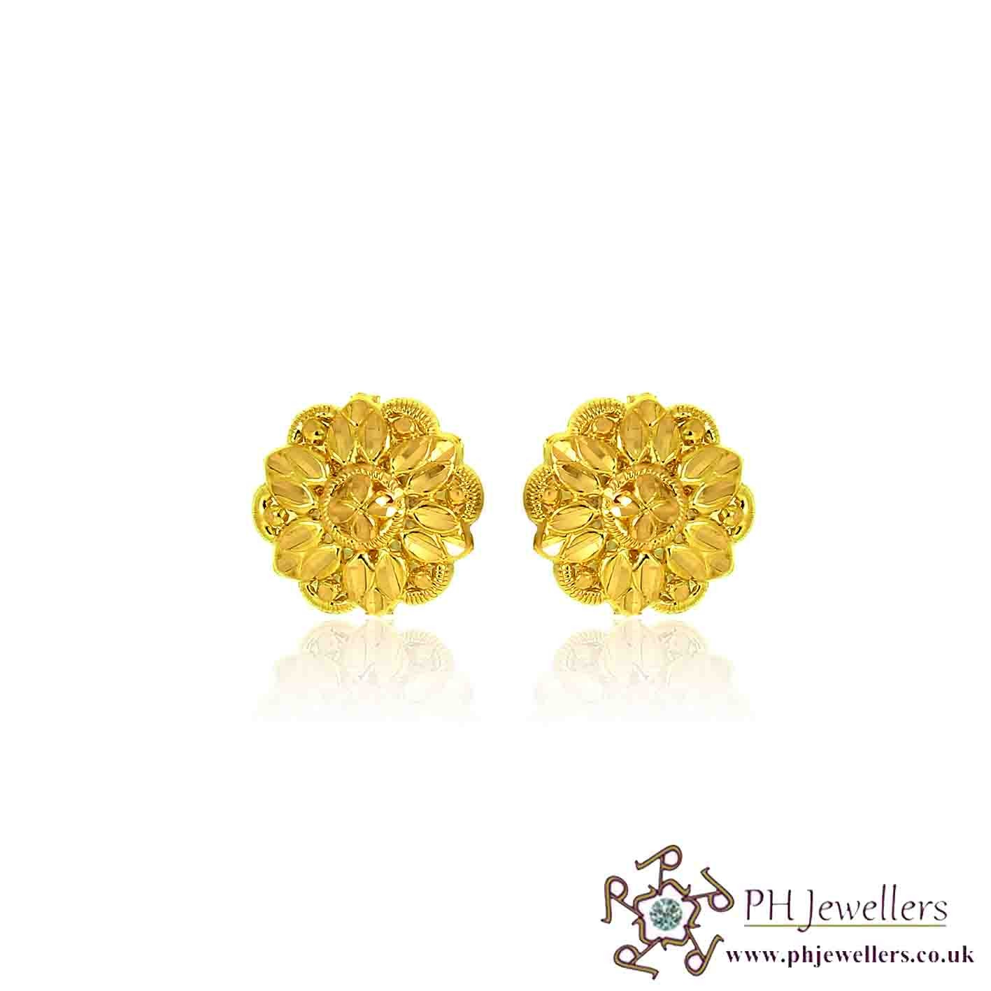 22CT 916 Yellow Gold Earring TE71