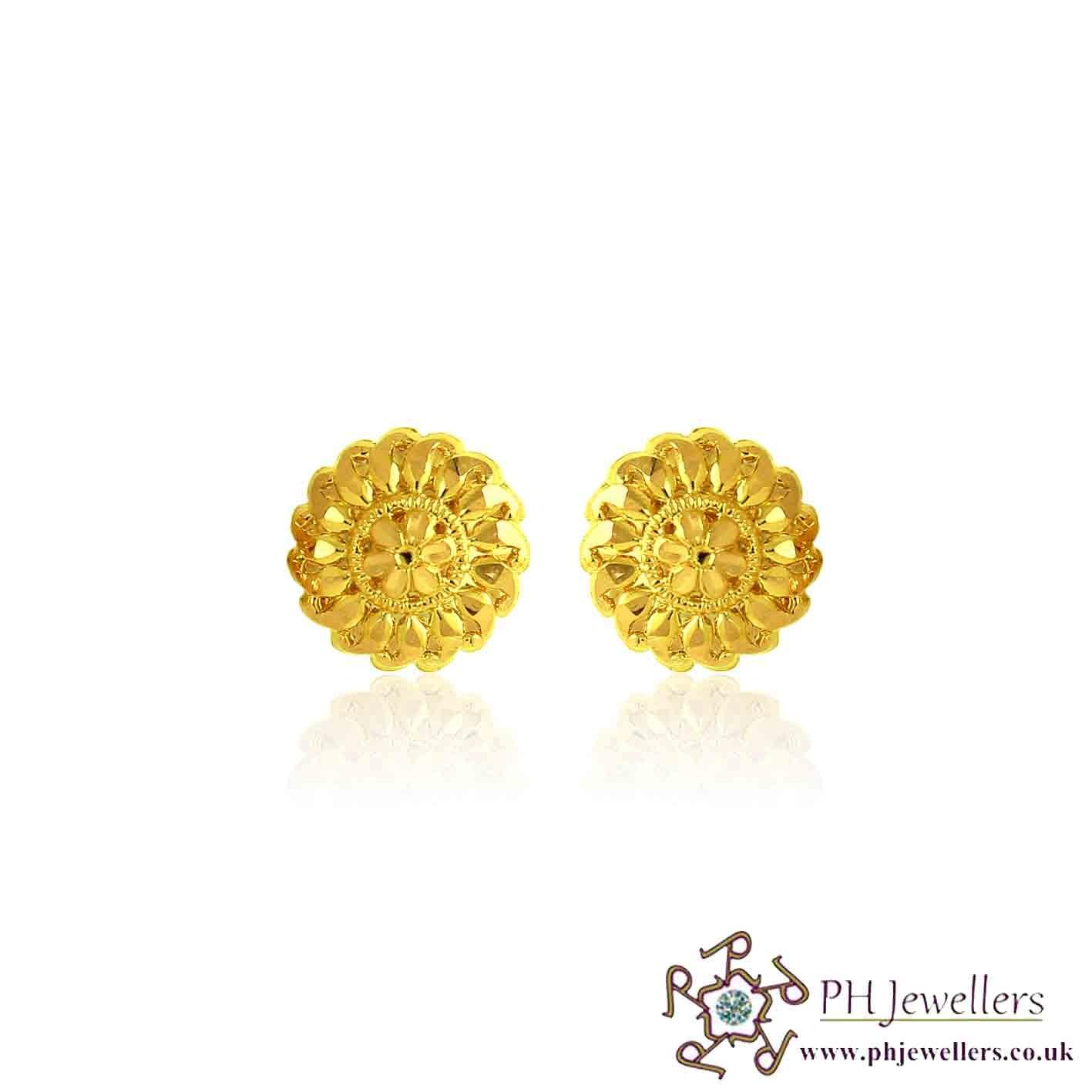 22CT 916 Yellow Gold Earring TE72