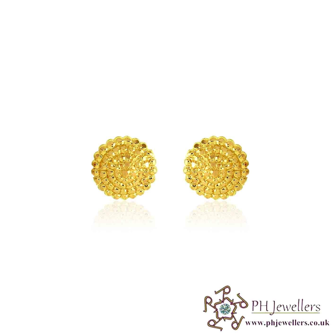 22CT 916 Yellow Gold Earring TE73