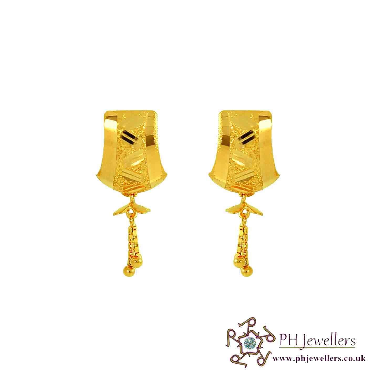 22ct 916 Yellow Gold Dangling Earring TE8