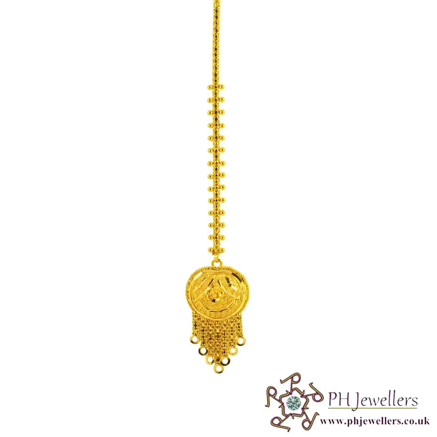 22ct 916 Hallmark Yellow Gold Headpiece Tikka TI1