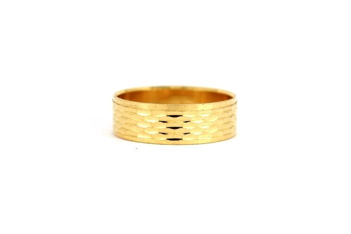 22CT 916 Yellow Gold Hallmark Wedding ring SIZE S  WB33