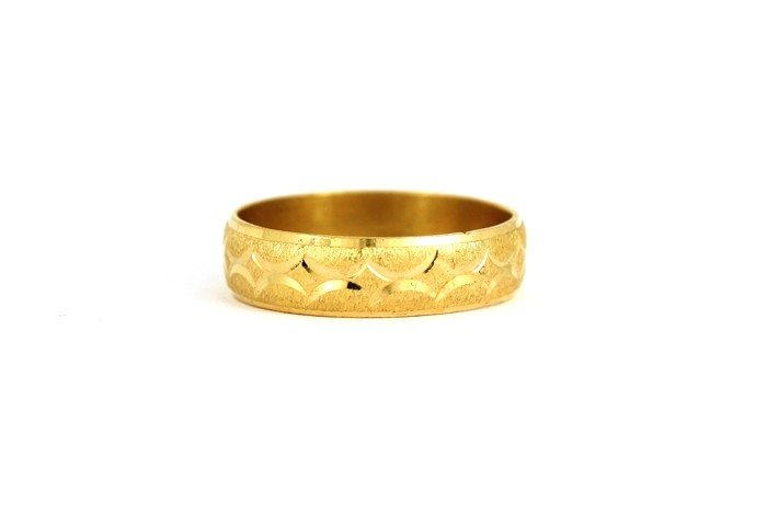 22CT 916 Yellow Gold Hallmark Wedding ring SIZE U  WB34