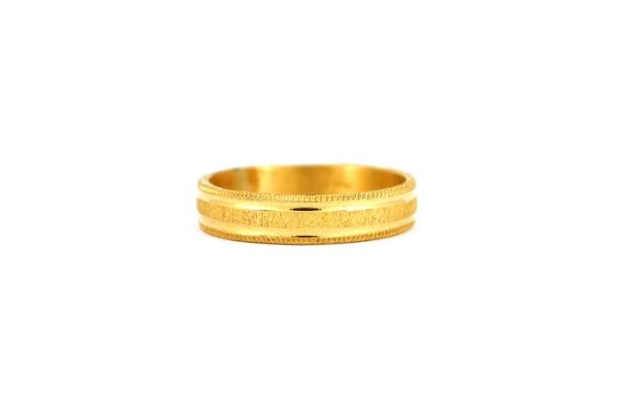 22CT 916 Yellow Gold Hallmark Wedding ring SIZE O WB36
