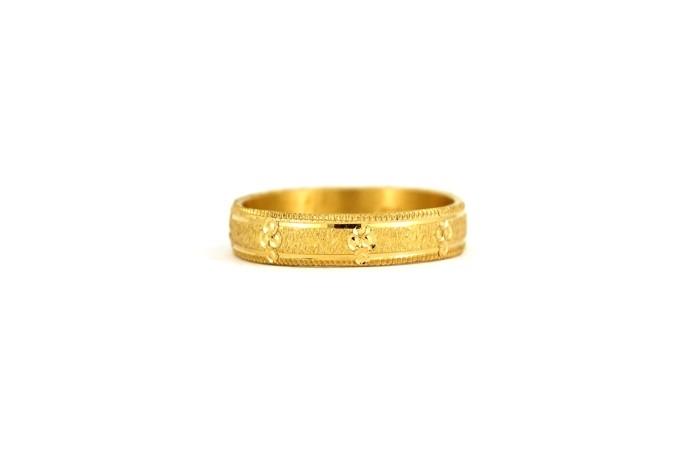 22CT 916 Yellow Gold Hallmark Wedding ring SIZE O1/2 WB38