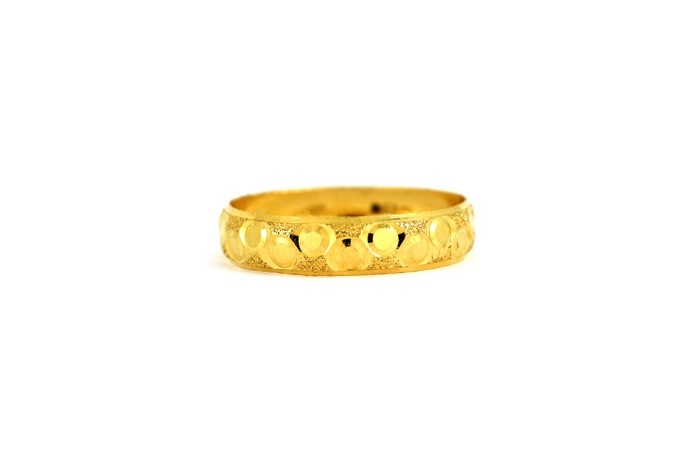 22CT 916 Yellow Gold Hallmark Wedding ring SIZE Q1/2 WB39