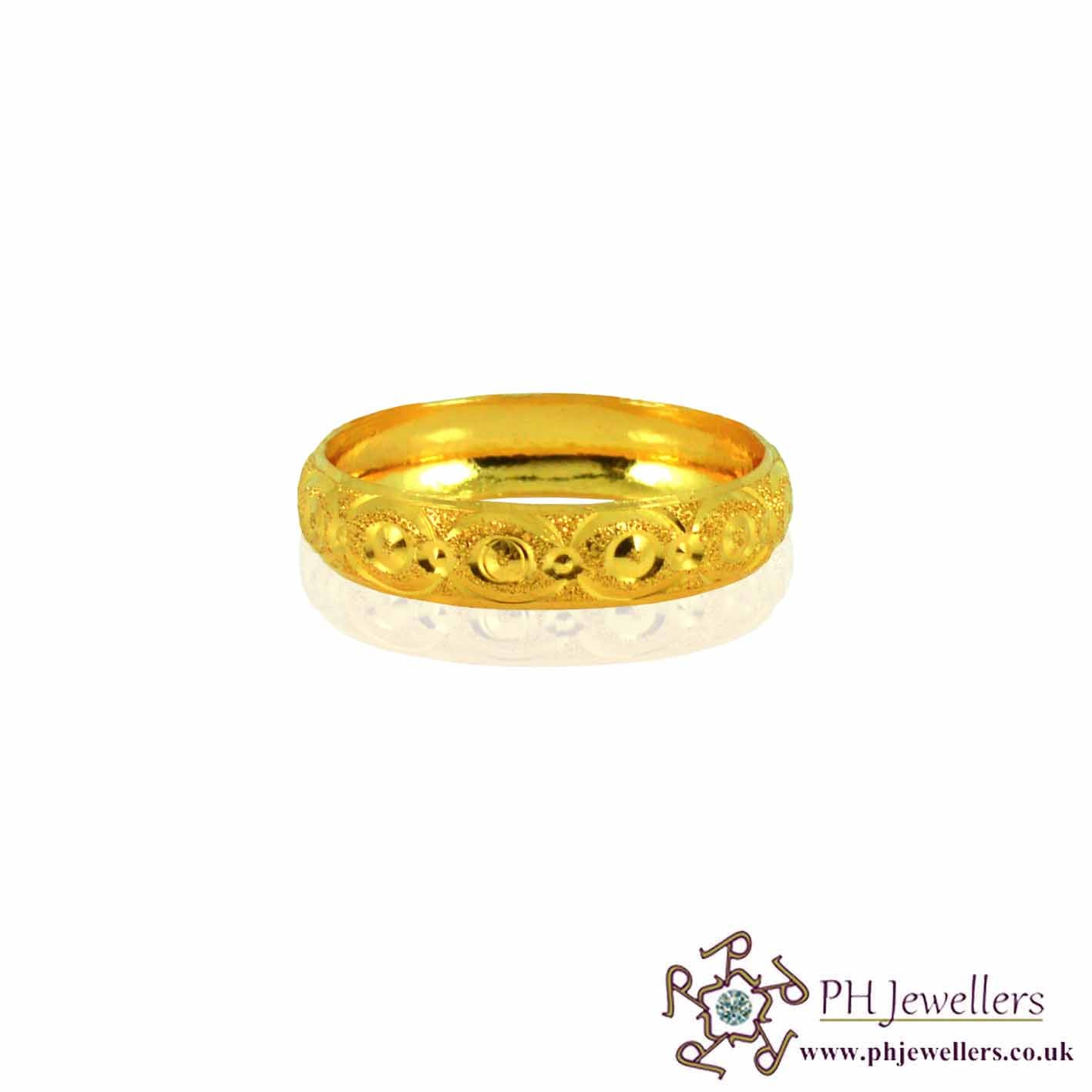 Online Gold Jewellery Gold Jewellery Wedding Band 22ct 916 Hallmark