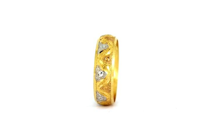 22CT 916 Yellow Gold Hallmark Wedding ring SIZE R WB40