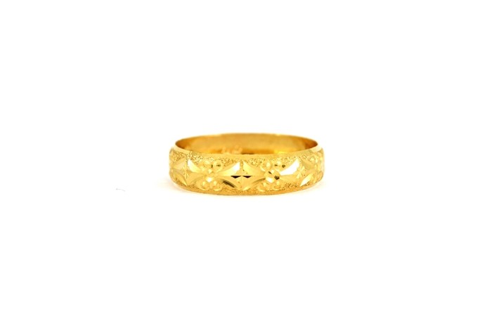 22CT 916 Yellow Gold Hallmark Wedding ring SIZE M WB42