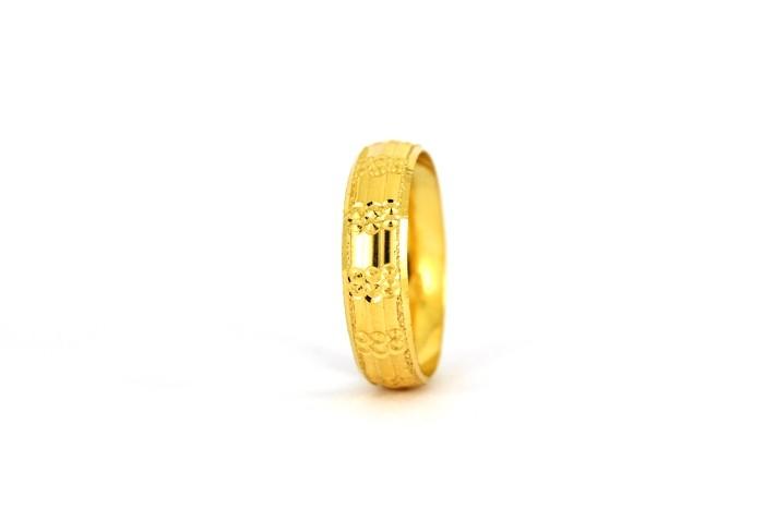 22CT 916 Yellow Gold Hallmark Wedding ring SIZE L WB44