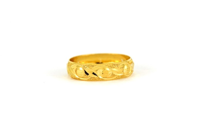 22CT 916 Yellow Gold Hallmark Wedding ring SIZE L WB45