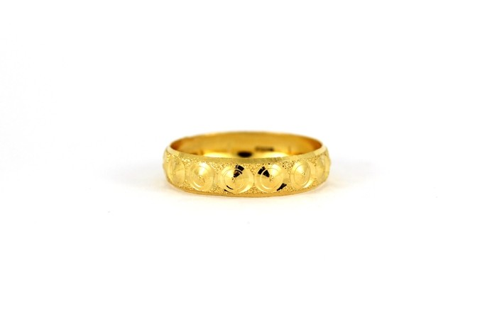 22CT 916 Yellow Gold Hallmark Wedding ring SIZE P WB46
