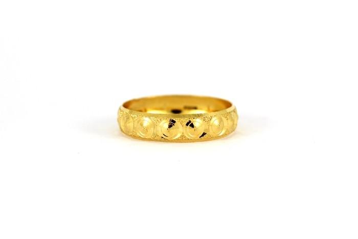 22CT 916 Yellow Gold Hallmark Wedding ring SIZE L1/2 WP53