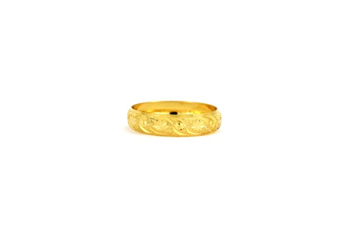 22CT 916 Yellow Gold Hallmark Wedding ring SIZE O1/2 WB48