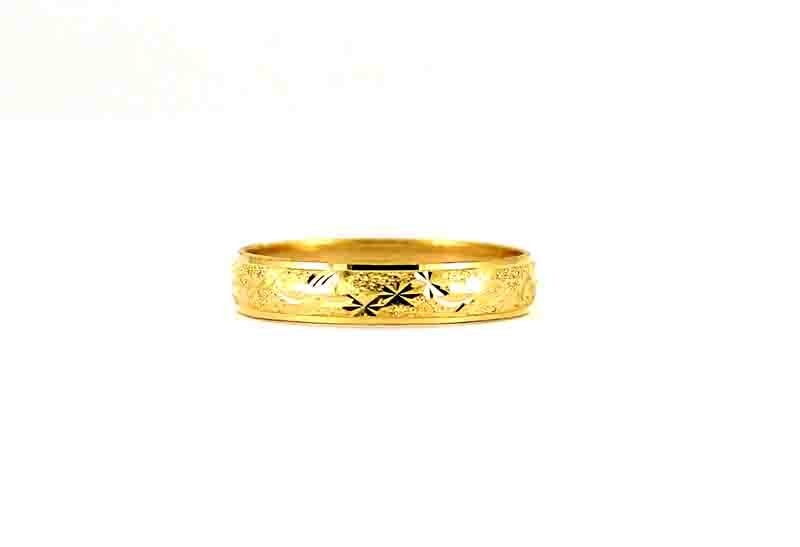 22CT 916 Indian Asian Yellow Gold Wedding Band Light Ring SIZE S1/2 WB78