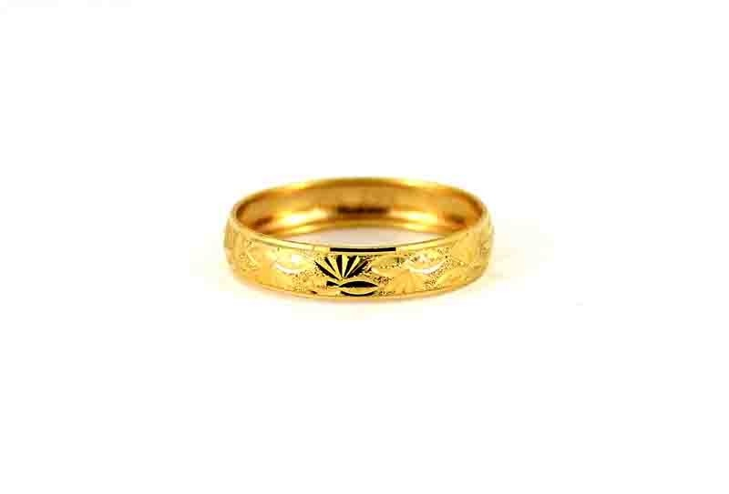 22CT 916 Indian Asian Yellow Gold Wedding Band Light Ring SIZE Q WB81