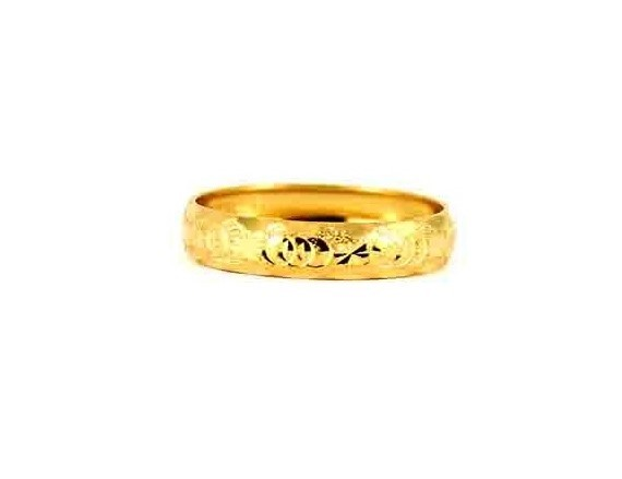 22CT 916 Indian Asian Yellow Gold Wedding Band Light Ring SIZE O1/2 WB82