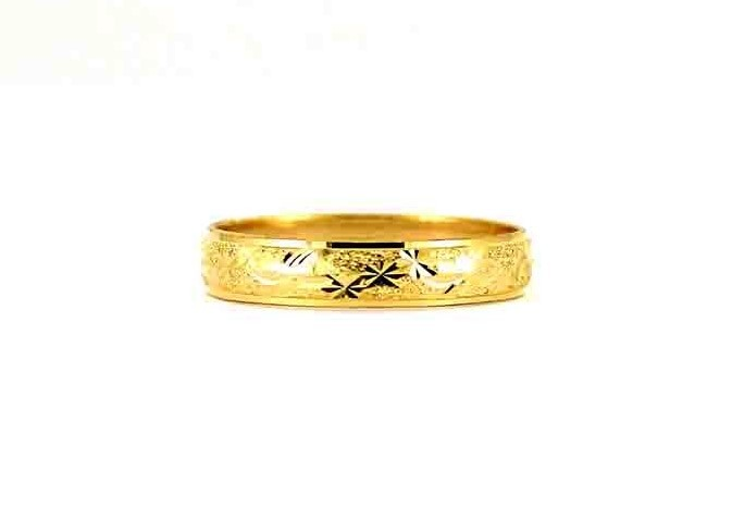 22CT 916 Indian Asian Yellow Gold Wedding Band Light Ring SIZE P WB84
