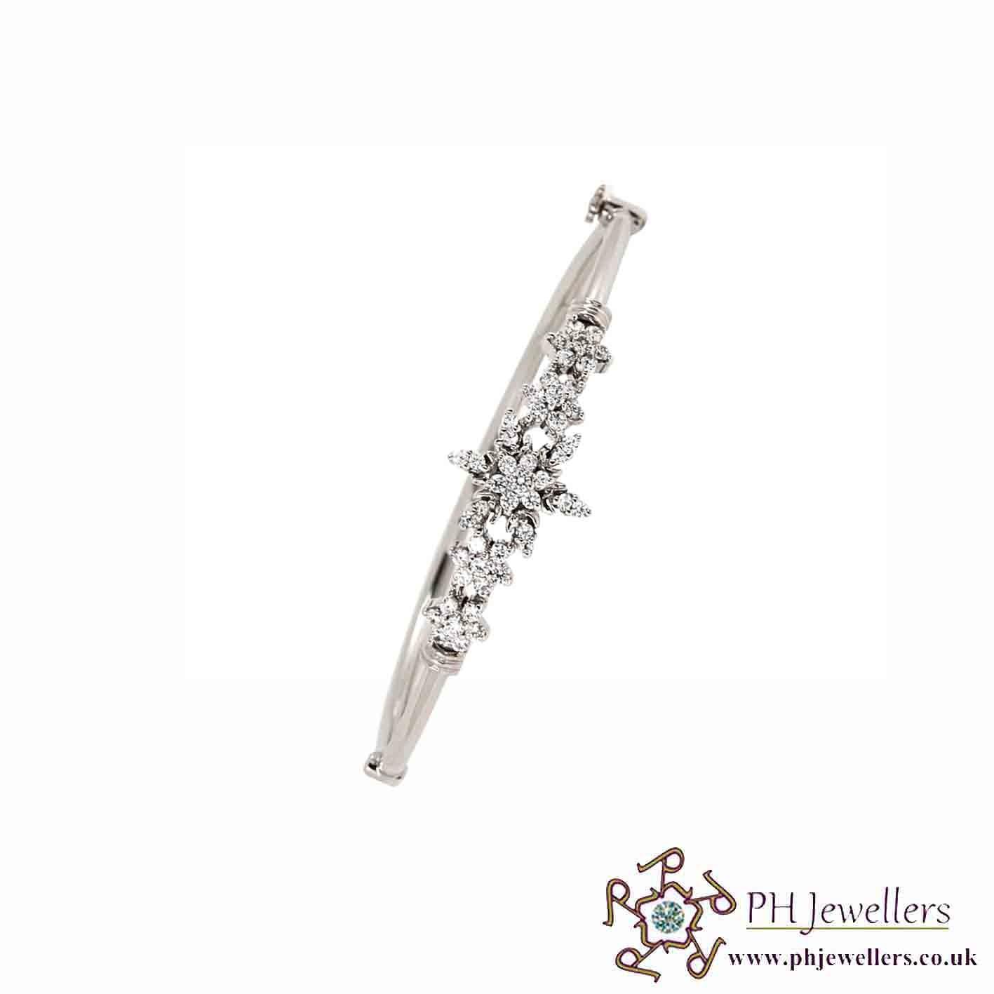 18CT 750 Hallmark White Gold Bracelet WGGB2
