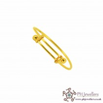 22ct 916 Hallmark Yellow Gold Adjustable Size ADJUSTABLE Bangles B9