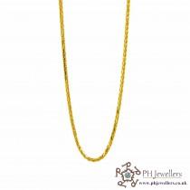 22ct 916 Hallmark Yellow Gold Spiga Chain PC53