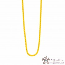 22ct 916 Hallmark Yellow Gold Round Box Chain C19