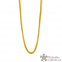 22ct 916 Hallmark Yellow Gold V Fox Tail Chain C21