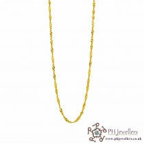 22ct 916 Hallmark Yellow Gold Light Ripple Chain PC22