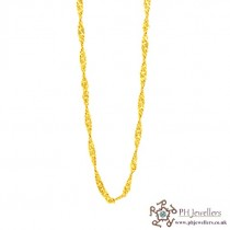 22ct 916 Hallmark Yellow Gold Ripple Chain PC7