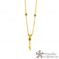 22ct 916 Yellow Gold Hallmark Meena Choker chain CC8