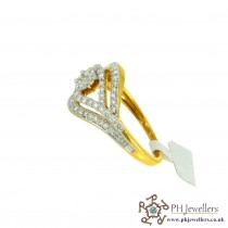 18CT 750 Hallmark Yellow Gold Diamond Size M Ring DR20