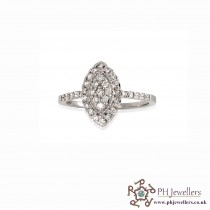 18CT 750 Hallmark White Gold Diamond Ring DR5
