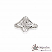 18CT 750 Hallmark White Gold Diamond Ring DR6