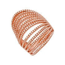 925 Sterling Silver Rose Gold Plated Ring Arched