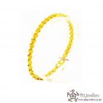 Gold Jewellery Bracelet 22ct 916 Hallmark Yellow Gold Bracelet LB12
