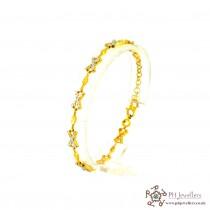 22ct 916 Hallmark Yellow Gold Rhodium Bracelet LB13