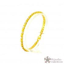 22ct 916 Hallmark Yellow Gold Rhodium Bracelet LB14