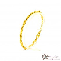 22ct 916 Hallmark Yellow Gold Rhodium Bracelet LB15