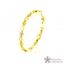 22ct 916 Hallmark Yellow Gold Rhodium Bracelet LB17