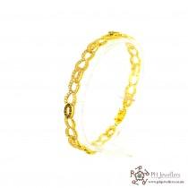 22ct 916 Hallmark Yellow Gold Bracelet CZ/Black LB21