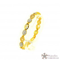 22ct 916 Hallmark Yellow Gold Bracelet LB30