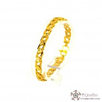 22ct 916 Hallmark Yellow Gold Bracelet LB37