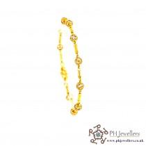22ct 916 Hallmark Yellow Gold Bracelet CZ LB48
