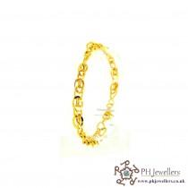 22ct 916 Hallmark Yellow Gold Link Bracelet LB50