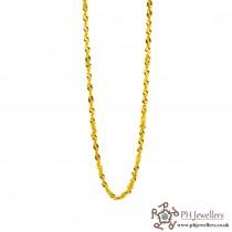 22ct 916 Hallmark Yellow Gold Ripple Chain PC27