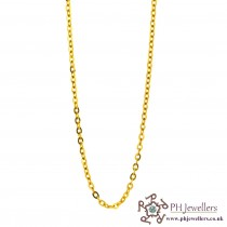 22ct 916 Hallmark Yellow Gold Rolo Chain PC32